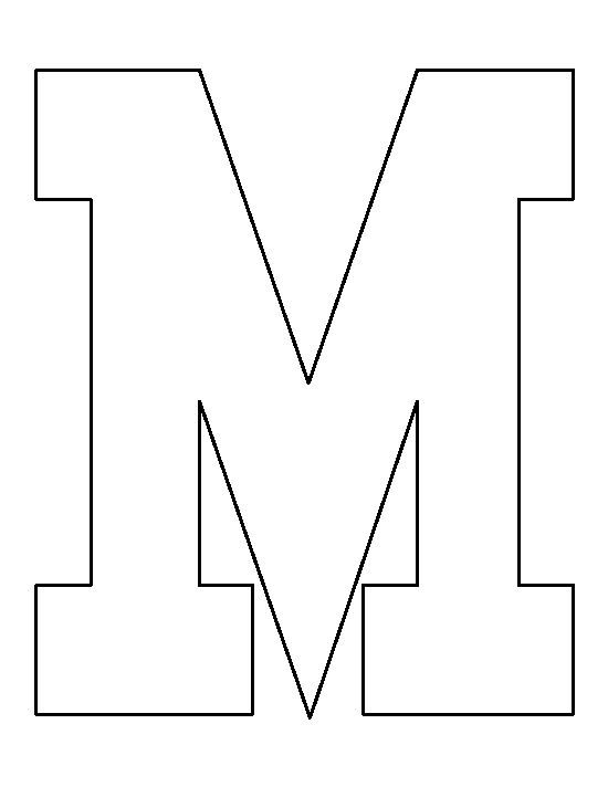 Letter M pattern. Use the printable outline for crafts ...