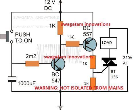 simple delay timer circuits explained elektronika ekkor 2018 rh pinterest com