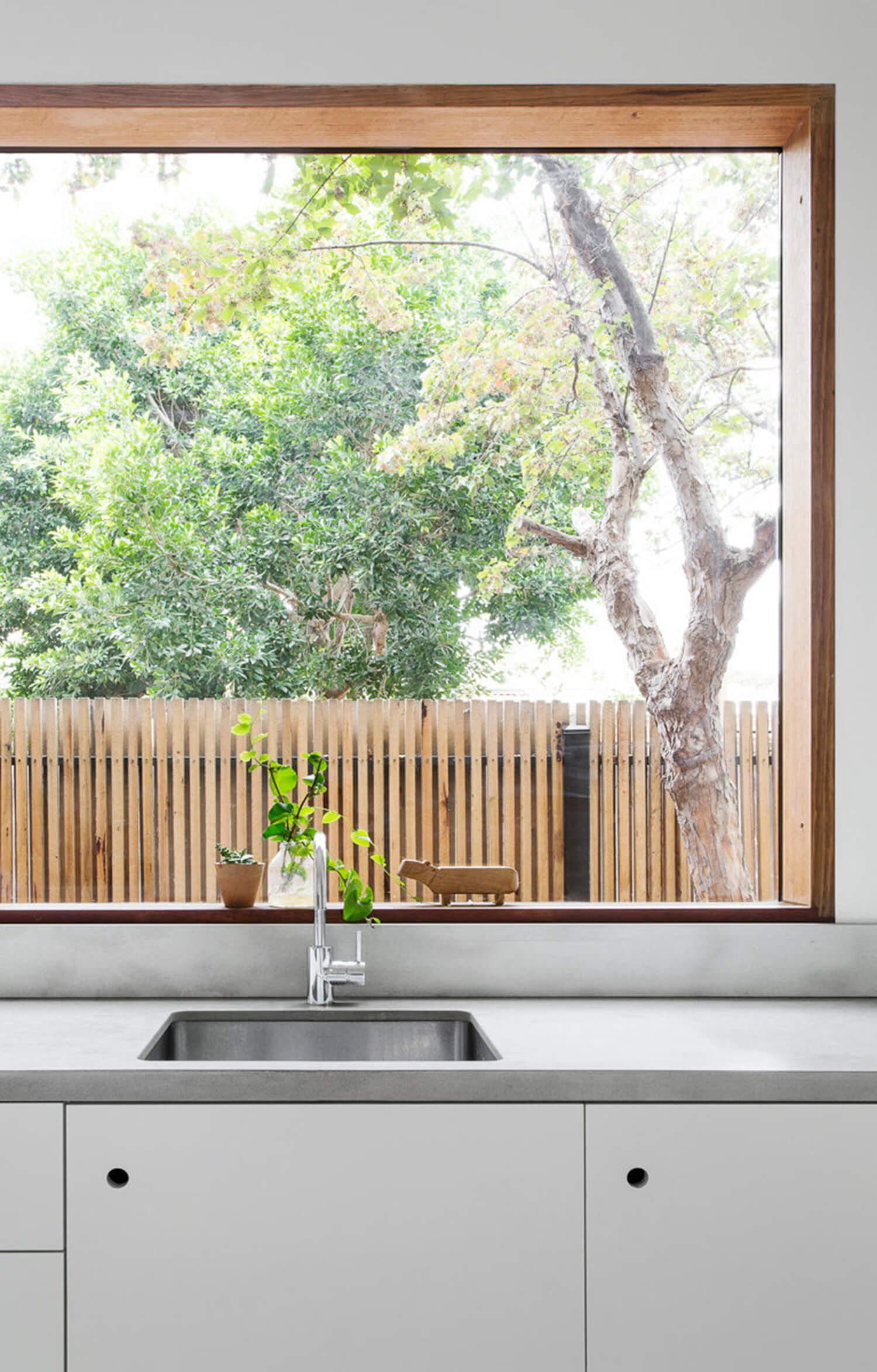 House wooden window design  north fitzroy house  house design magazine and tiny house design