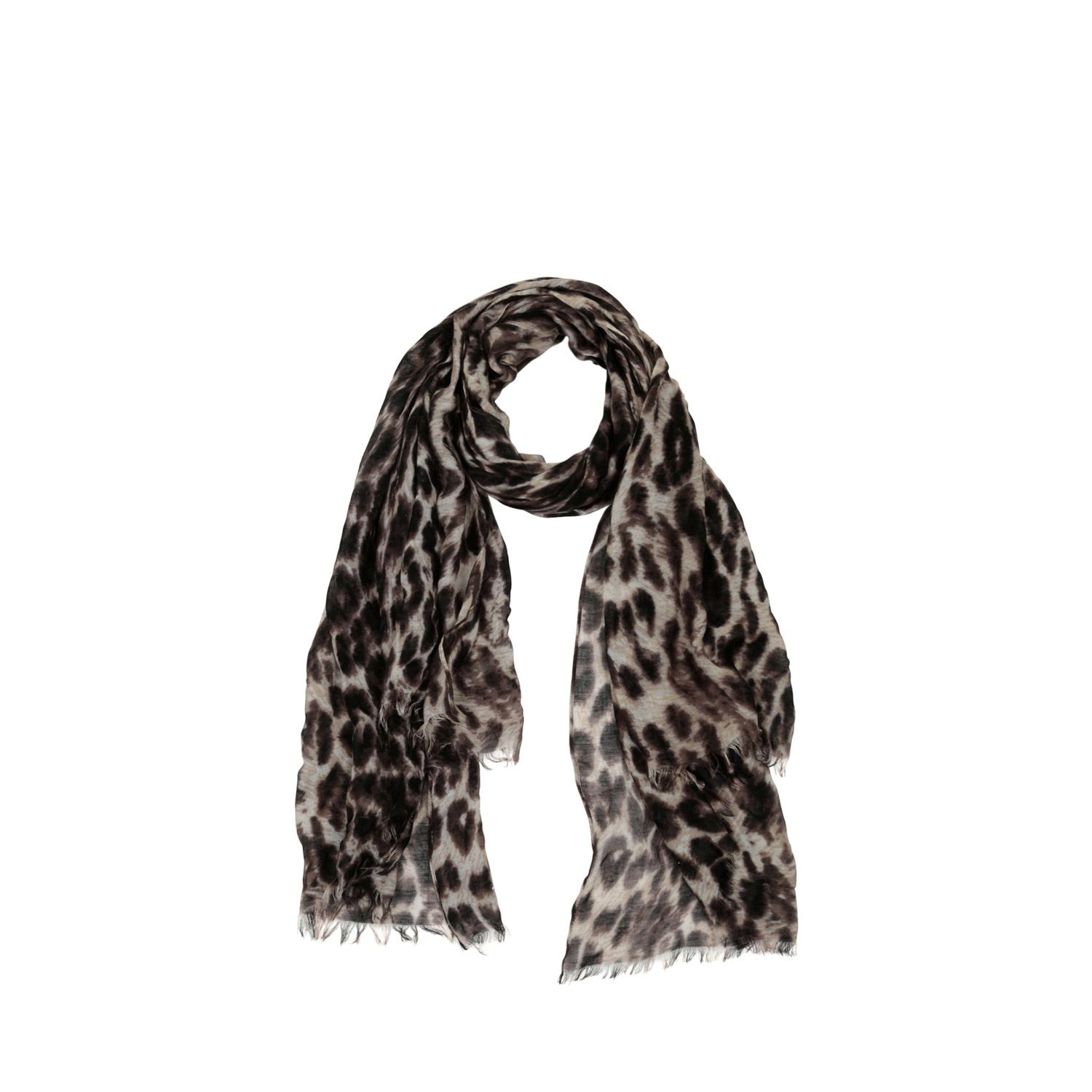 Warehouse, Leopard Print Scarf Brown 1