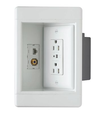 Pass Seymour Recessed Tv Wall Box Outlet Wall Mounted Tv Plates On Wall Tv Wall