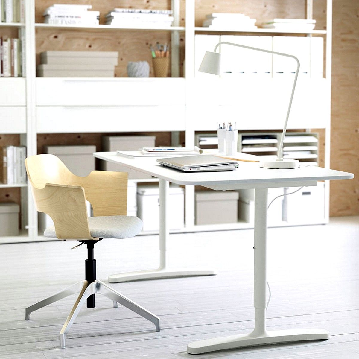 IKEA BEKANT Desk White in a Home Office Ikea home office