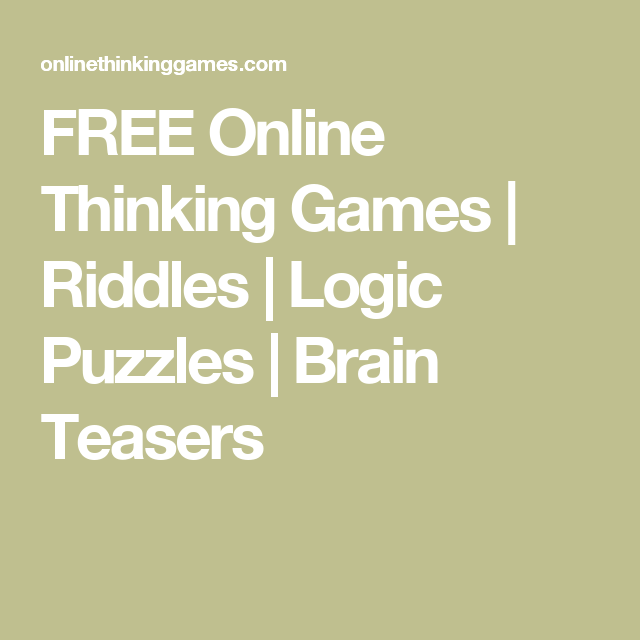 free riddle games online