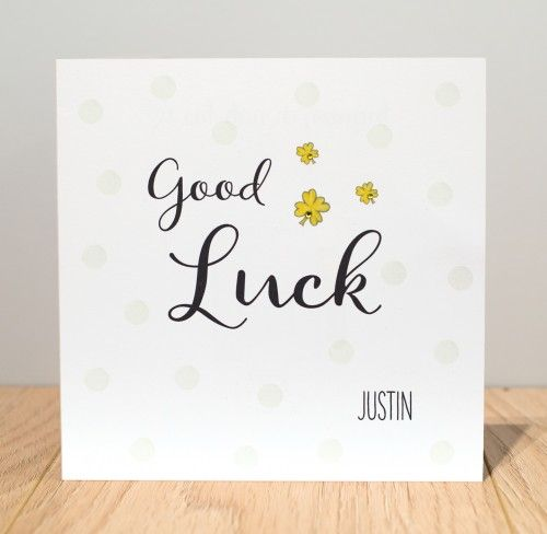 Personalised Good Luck Cards Personalised Good Luck Cards - good luck cards to print