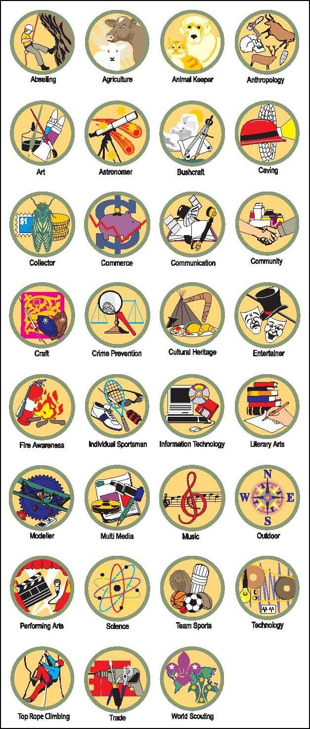 Proficiency Badges Scouts Australia meritbadge graphicdesign – Crime Prevention Merit Badge Worksheet