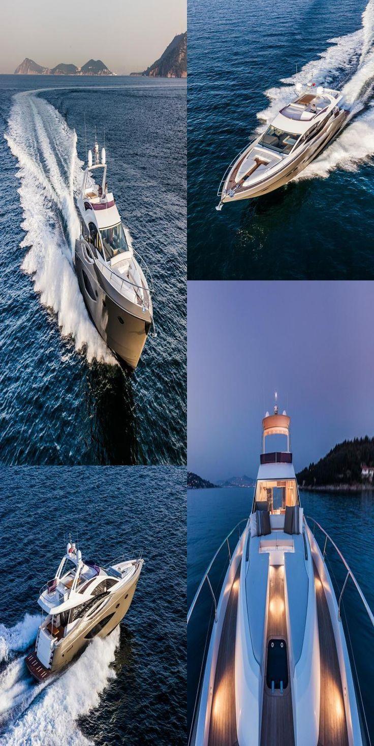 Photo of #Nytt # luksuriøs yacht # #flybridge #by #numarine #decor