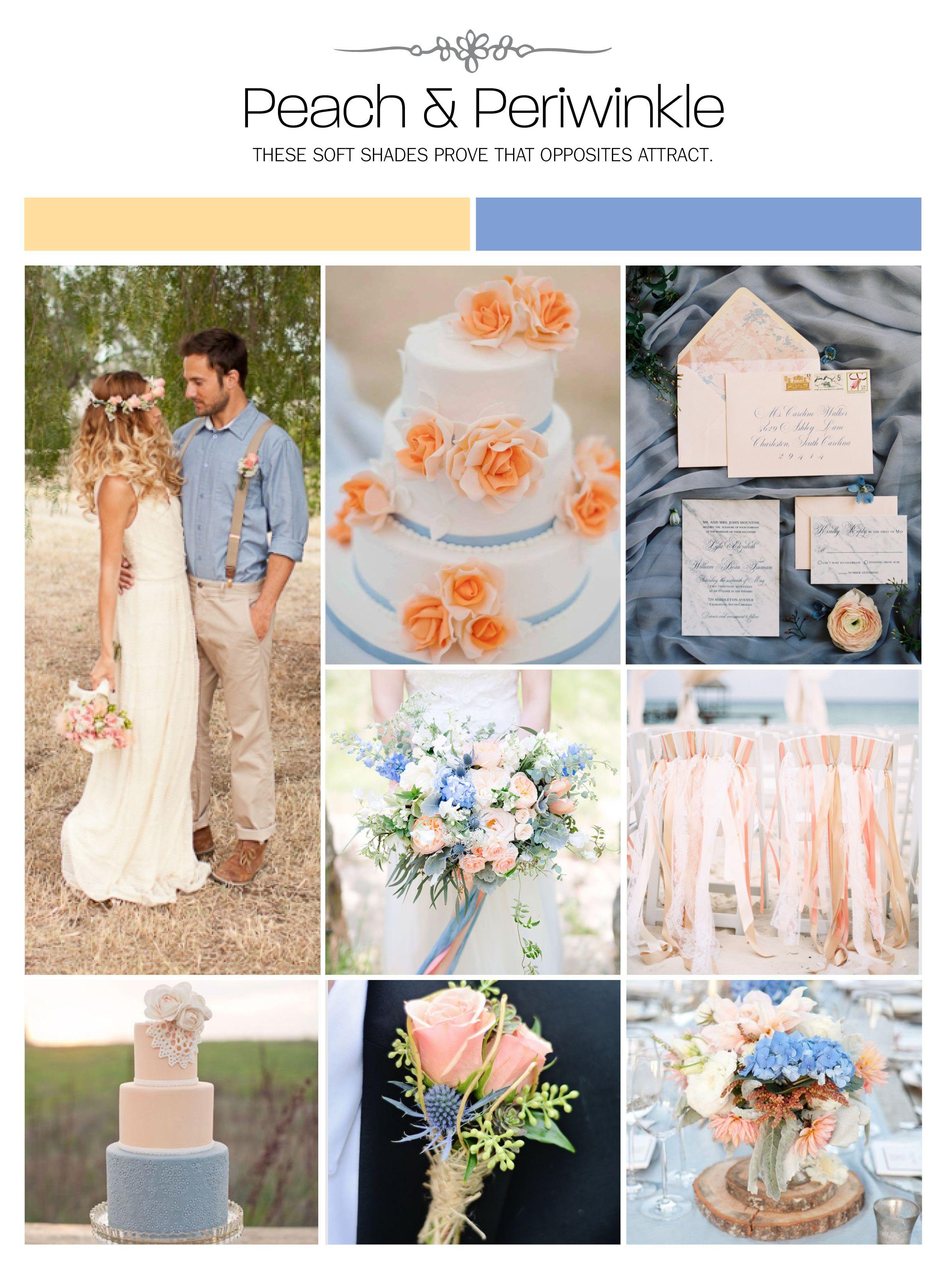 Inspiration board peach u periwinkle weddings illustrated