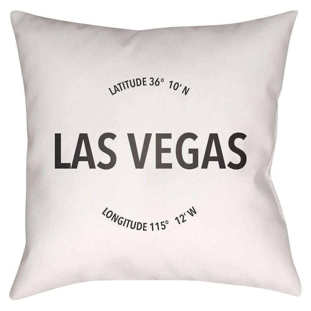 "White City Compass Las Vegas Throw Pillow (18"" x 18"") - Surya"