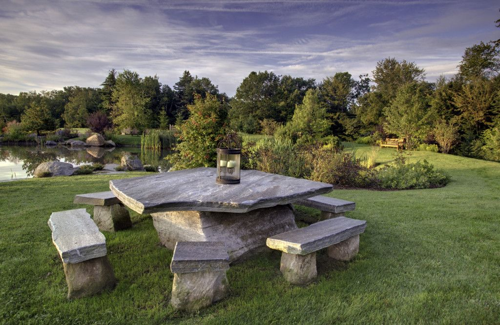Stone Picnic Table Set Modern Coffee Tables And Accent