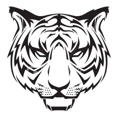Vector Illustration Of A Tiger Head Tribal Tiger Tattoo Tiger Head Tattoo Tiger Tattoo Design