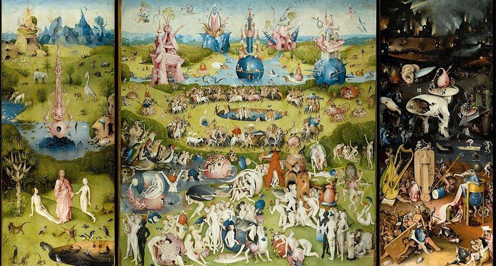 El jardin de las delicias, una de las pinturas más conocidas de El Bosco.