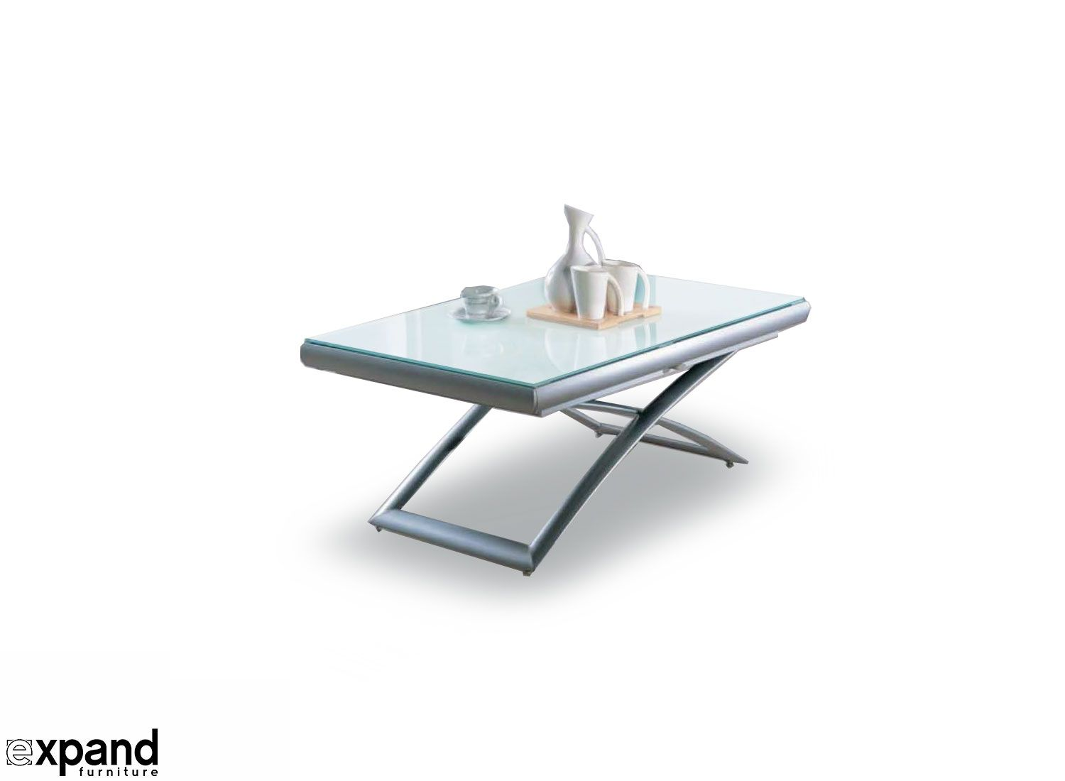 Transforming Extending Glass Table Expand Furniture Glass Table Expand Furniture Convertible Coffee Table [ 1100 x 1500 Pixel ]