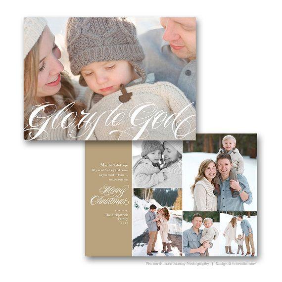 Christian Christmas Card Template Bible Verse By Fotovella Christmas Card Layouts Christmas Cards Wording Family Christmas Card Photos