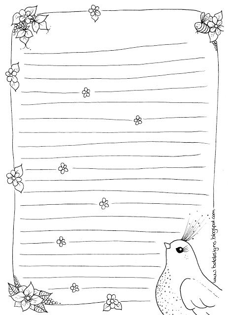 BDDesigns Free printable stationary D I Y Pinterest - free lined stationery