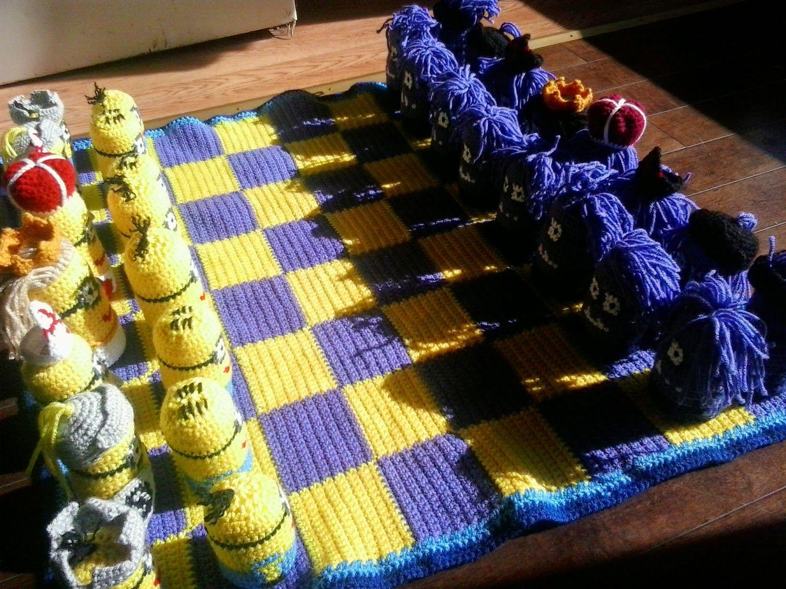 Crochet Fanatic: MINION CHESS SET | CRAFTS - Crochet & Knitting both ...
