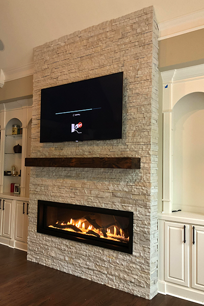 Custom Fireplace Design Direct Vent Linear By Travis Industries