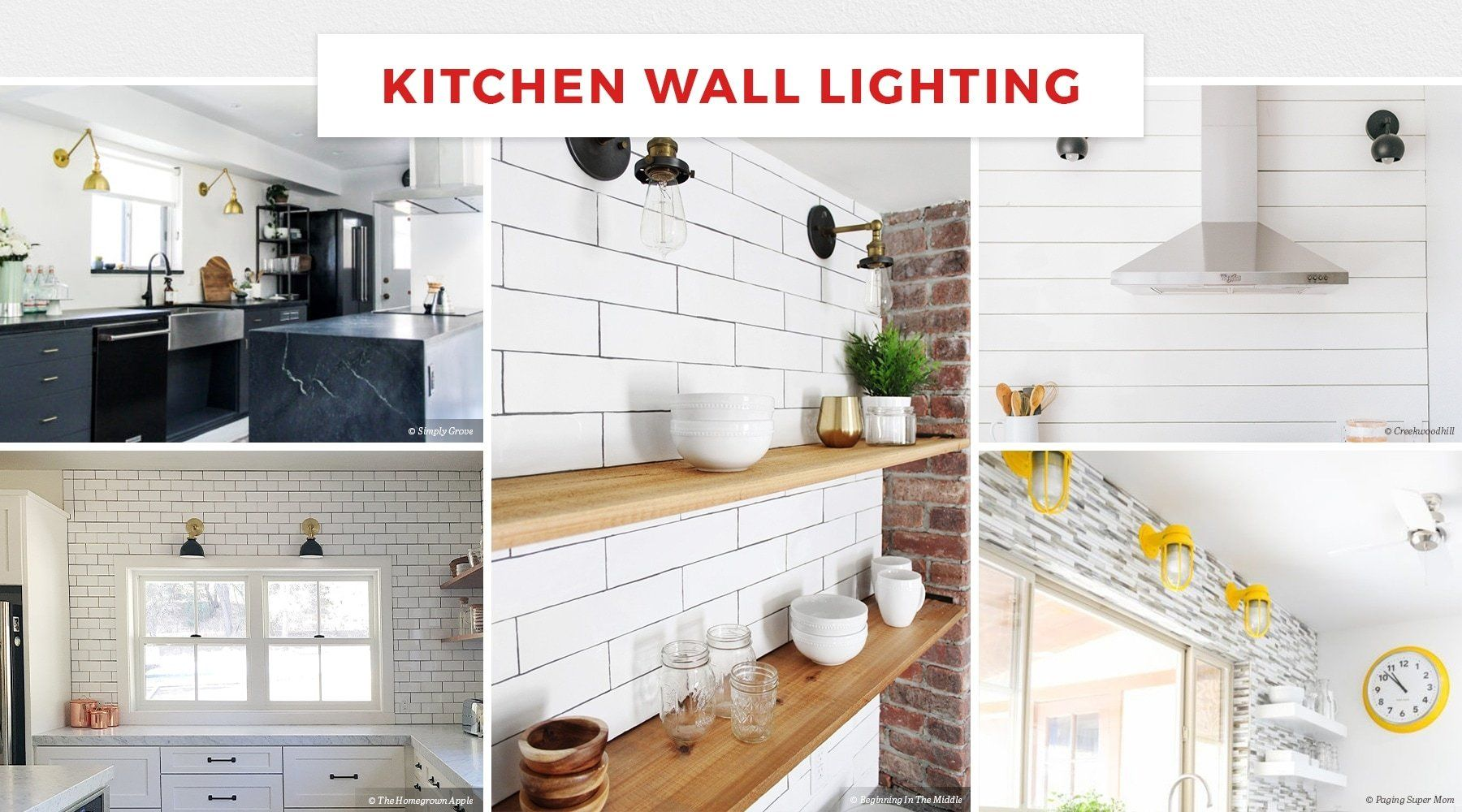 Kitchen Wall Lighting Is Great For Illuminating Open Shelving Or