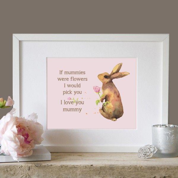 Personalised 'I Love You Mummy' Keepsake Art