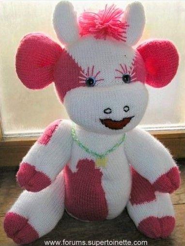 tuto vache en laine tricot et crochet tricot bebe pinterest laine tricot vache et laine. Black Bedroom Furniture Sets. Home Design Ideas