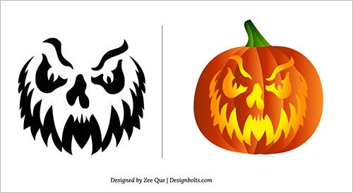 halloween 2013 free scary pumpkin carving patterns ideas. Black Bedroom Furniture Sets. Home Design Ideas