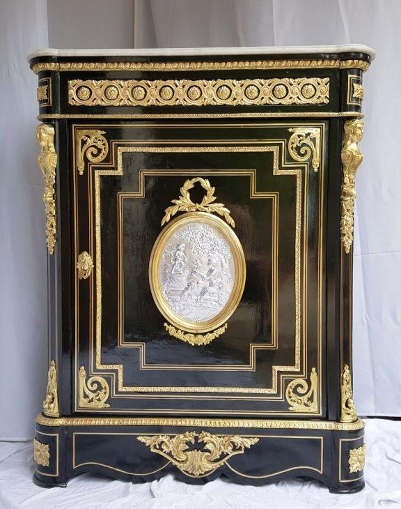 Meuble D Appui Boulle A Medaillon Epoque Napoleon 3 Napoleon Iii