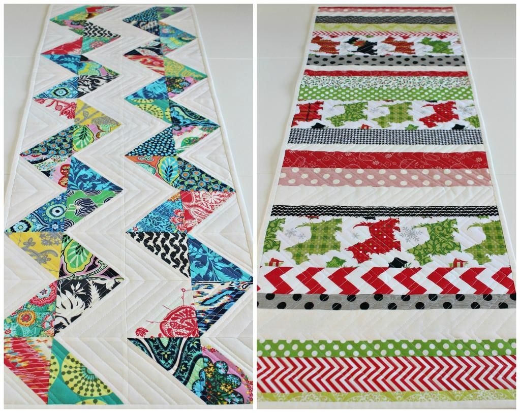 Reversible Table Runner and 10 total table runners on Craftsy blog for  inspiration