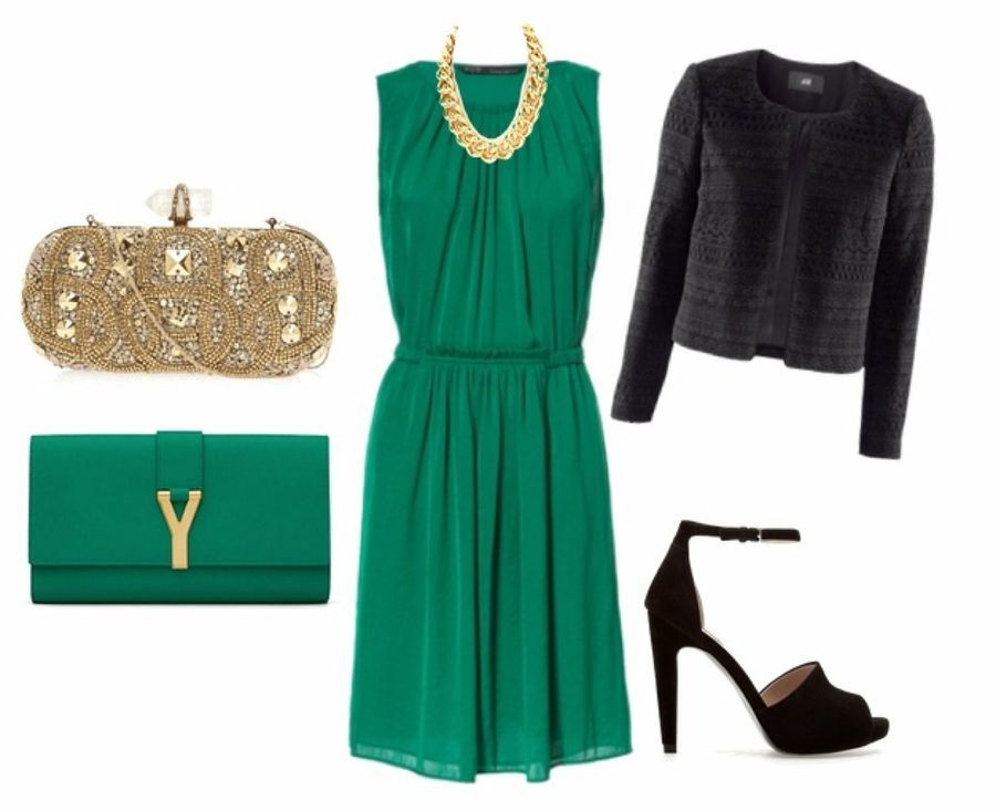 Zapatos para vestido de fiesta verde esmeralda