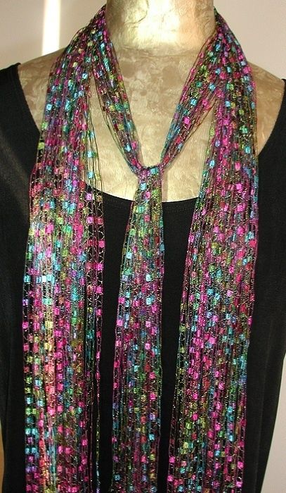 The Latest Trend Ribbon Scarves Ribbon Necklaces Yarn