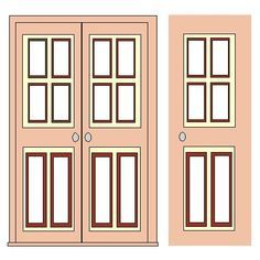 Printable Dollhouse Windows and Doors  sc 1 st  Pinterest : printable door - pezcame.com