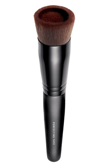 OMG! I must have this! bareMinerals Perfecting Face Brush is engineered with a unique fluid reservoir, allowing for no-mess foundation application and flawless makeup coverage for skin that glows. The tool is even designed to let you adjust your foundation coverage for seamless coverage and expert control. How to use: Drop 1-2 drops of foundation into the brush reservoir. Buff onto skin in circular motions. Add more drops of foundation to increase coverage.