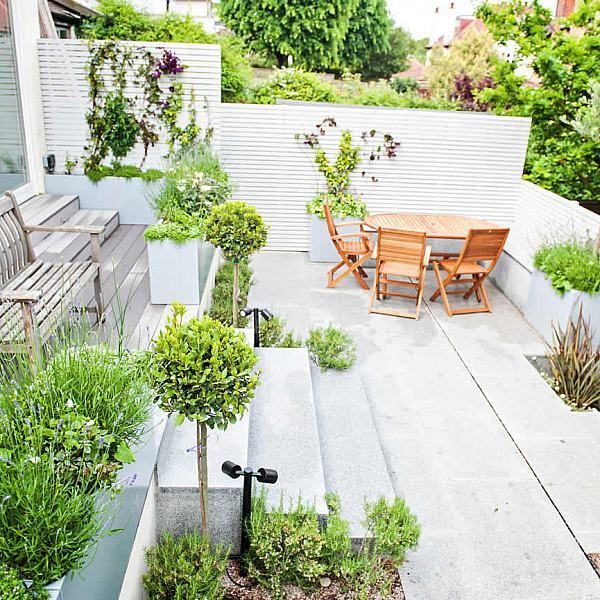 Landscaped contemporary garden Muswell Hill London garden - Garden Design Company