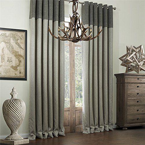 IYUEGOU Classic Bamboo Fiber Faux Room Darkening Grommet Top Curtain Draperies With Multi Size Custom by iyuegou, http://www.amazon.com/dp/B00ZIWMI0K/ref=cm_sw_r_pi_dp_berjwb1RA5NP8