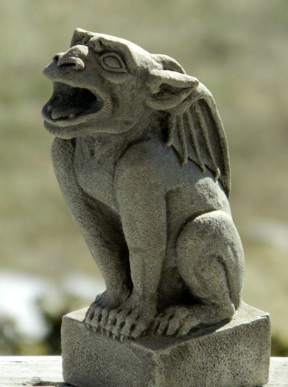 Babygoyle Gargoyle Sculpture Gothic Architectural Ornament Cast Shadows