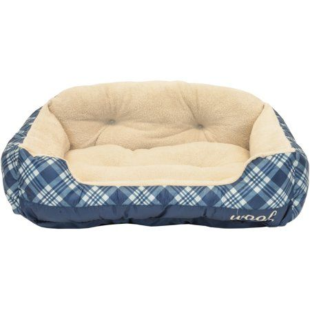 Vibrant Life Pet Bed Large 36 Inchx27 Inch Blue Multicolor