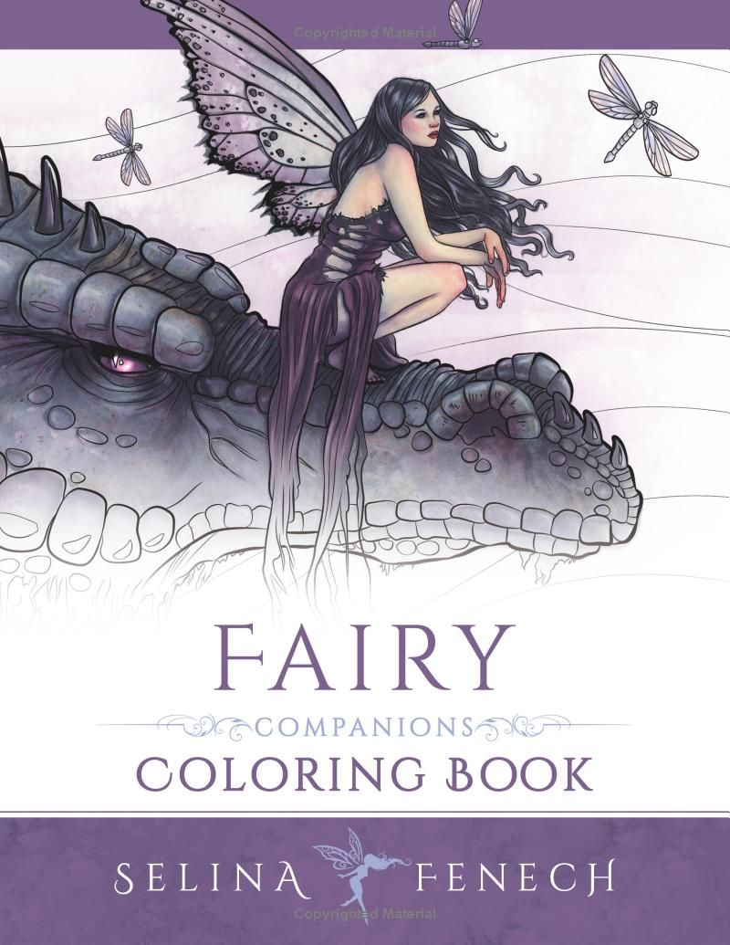 Fairy art coloring book by selina fenech - Fairy Companions Coloring Book Fairy Romance Dragons And Fairy Pets Volume 4 Fantasy Art Coloring By Selina