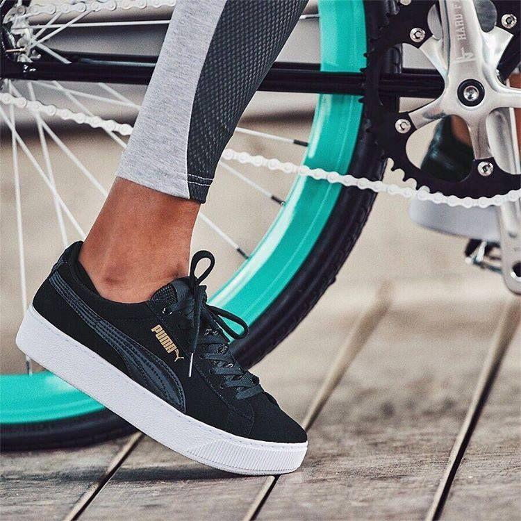 puma vikky plattform-sneakers