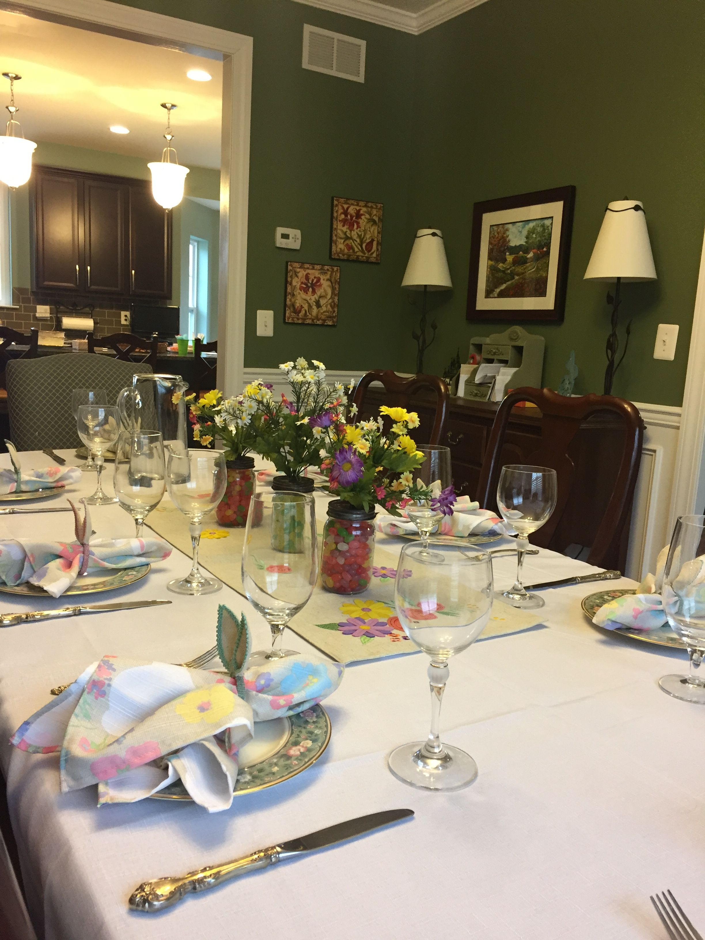 Easter Dining Table Arrangement Spring Easter Dining Table
