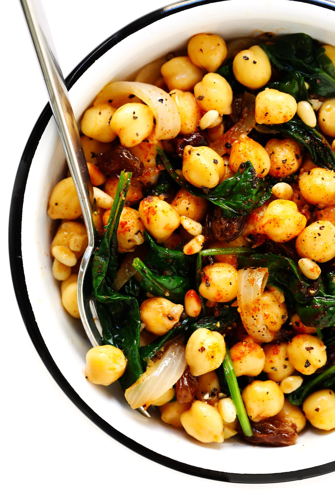 Catalan Chickpeas and Spinach Recipe Vegan Chickpea