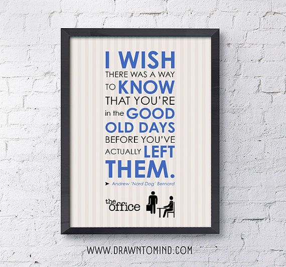 5x7 Digital Print / The Office / Andy Bernard / Quote