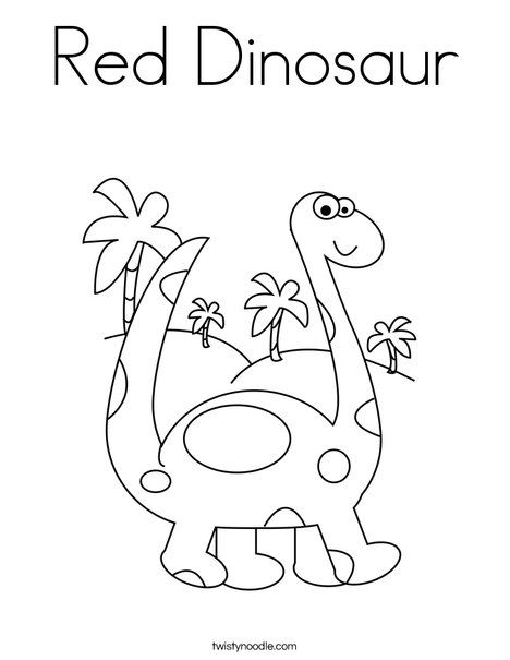 Red Dinosaur Coloring Page