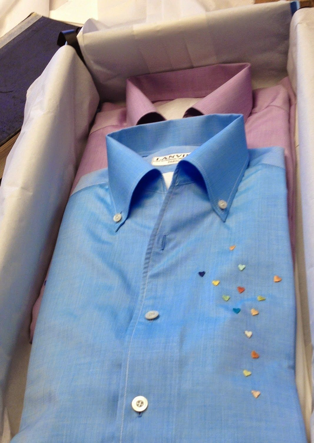 Lanvin Bespoke Shirts With Hand Embroidered Hearts Made To