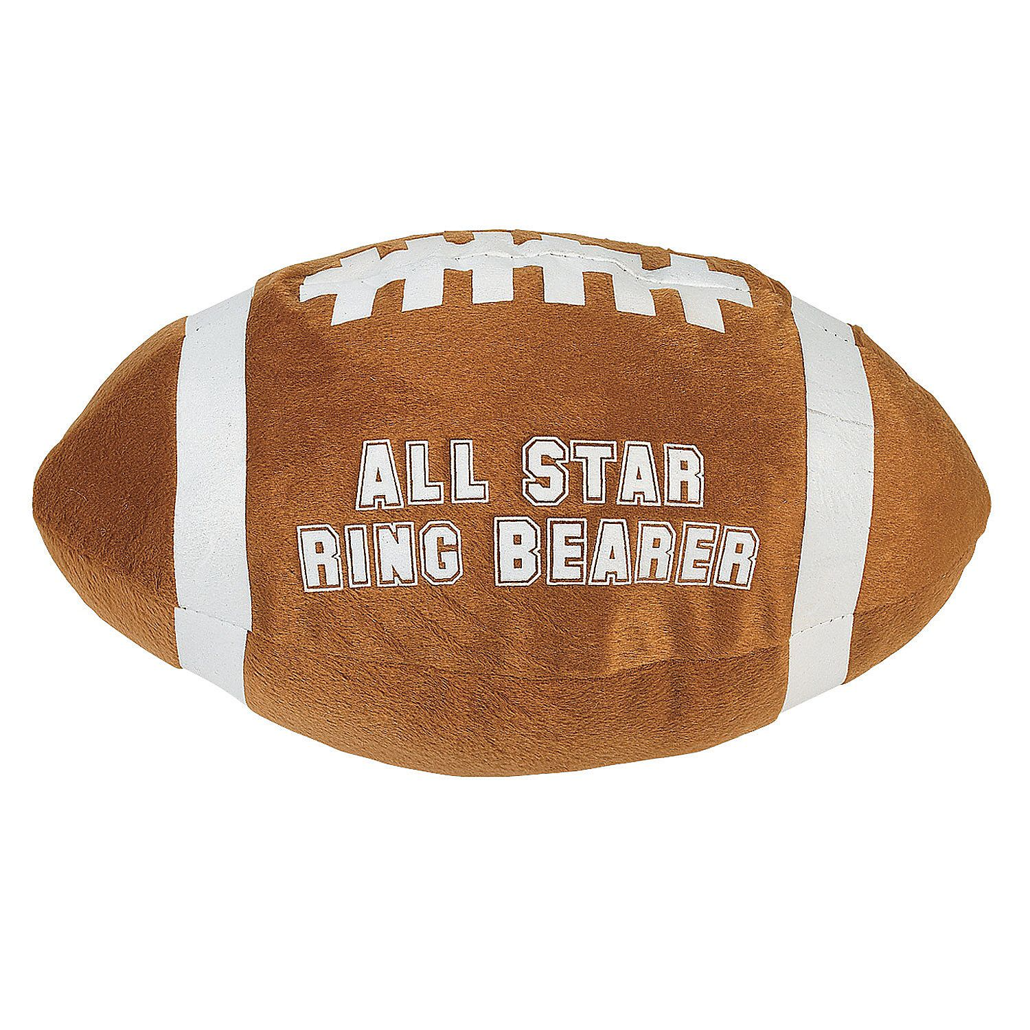 All Star Ring Bearer Plush Football Ring bearer Party gifts and