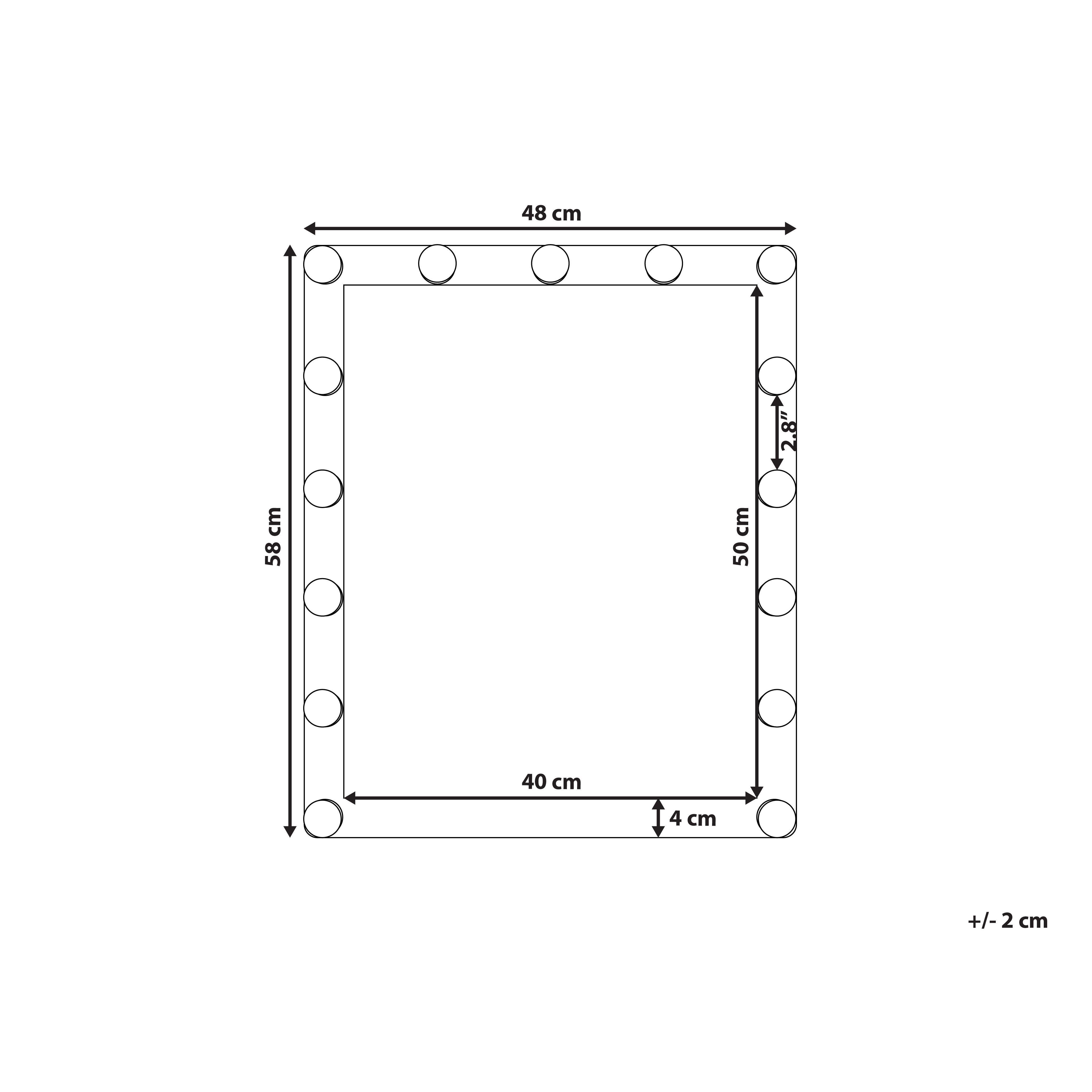 Badspiegel Mit Led Beleuchtung Rechteckig 50 X 60 Cm Odenas In 2020 Outdoor Structures