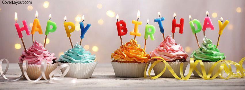 Happy Birthday Cupcakes Candles Facebook Cover Coverlayoutcom Fb