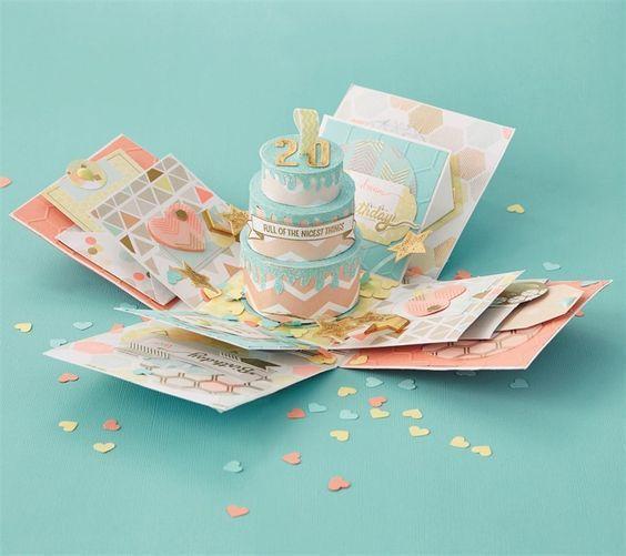 Exploding Box Exploding Box Card Exploding Boxes Birthday Cards Diy