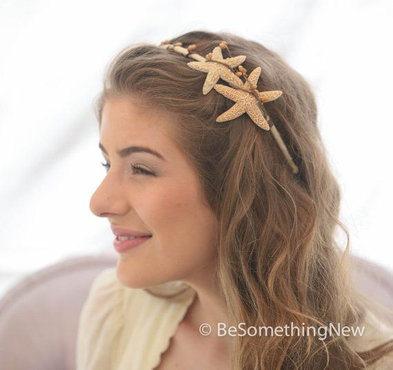 Starfish Headband Beach Wedding Hair Accessory Sea Shell Bohemian