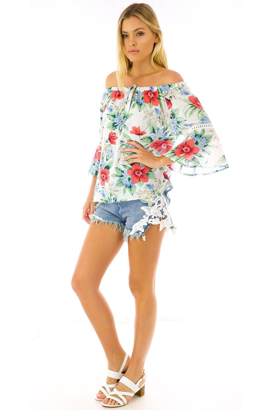 Flora Top in Cotton Floral