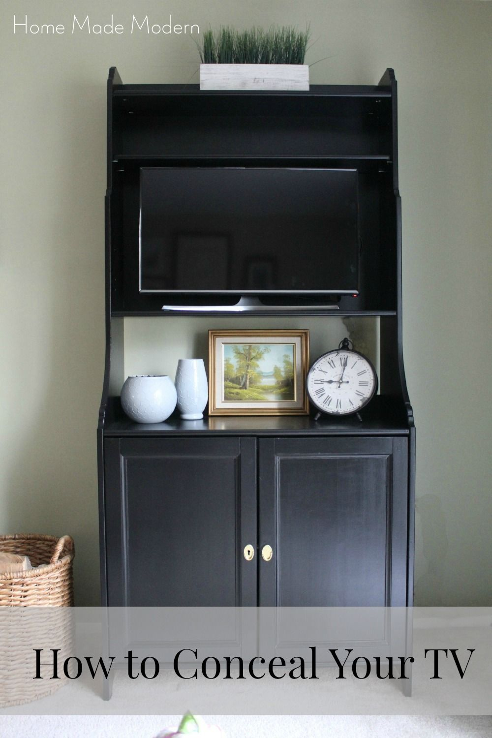 Paint Your Furniture Black To Hide TV Good Idea For Future Guest Room Dining HutchIkea CabinetsIkea HackersWeekend
