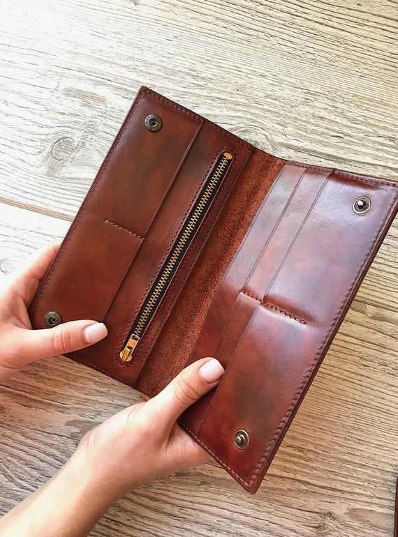 Leather wallet woman purse wallet Personalized wallet Minimalist wallet Leather wallet for women Zipper wallet personalized gift Coin wallet #leatherwallets