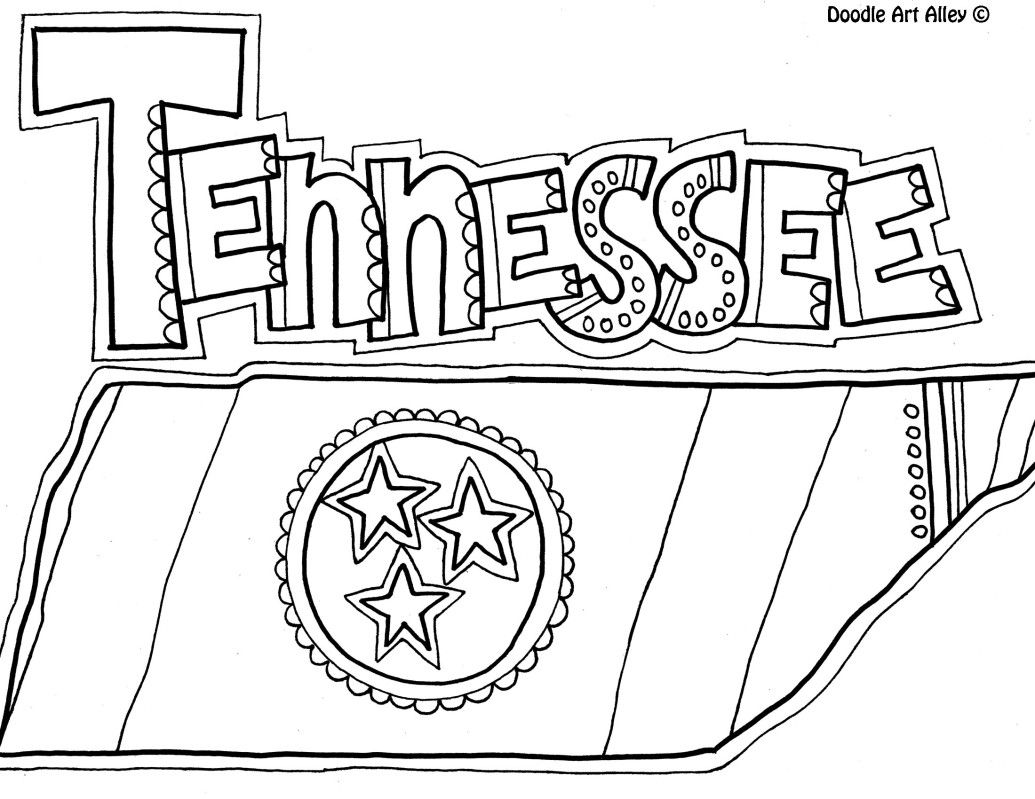 Free Tennessee Coloring Page From Doodle Art Alley Coloring